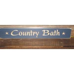 24 Decorative Wood Sign * Country Bath * Made in America