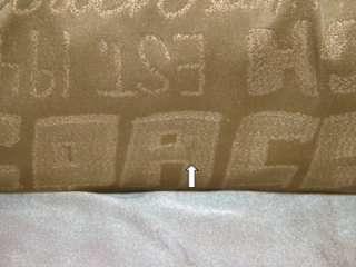 COACH POPPY STORYPATCH Glam Tote Bag Lurex Gold 15301 GUC Graffiti