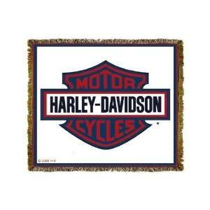 Harley Davidson Motorcycles American Logo Throw Blanket