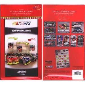 Nascar Racing Foil Valentine Cards for Kids (10000209