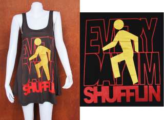 LMFAO Every Day Im Shuffling POP ART Party WOMEN T SHIRT DRESS Tank