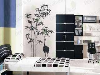 Large Removable Vinyl Wall Decal Sticker Bamboo Tree
