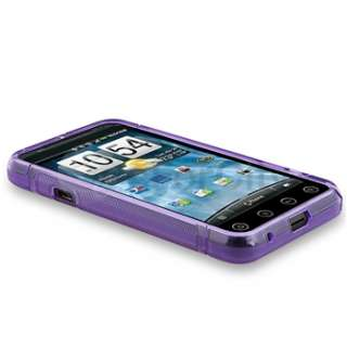 Purple S Shape Curve Wave 5in1 Accessory Bundle TPU Case Charger For