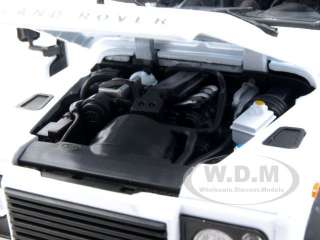 car model of Land Rover Defender White die cast car model by Welly