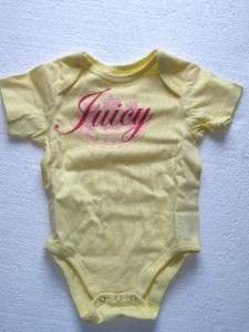 NIB JUICY COUTURE BABY GIRL COTTON BODYSUIT SET OF 3