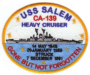 US NAVY SHIP PATCH, USS SALEM, CA 139, HEAVY CRUISER Y