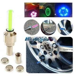Car Bike Motorcycle Alarm Tyre Tire Wheel Led Light Lamp Green