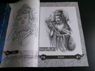 CHINA A3 Sheet Sketch Tattoo Flash Magazine Art Book WENJUN TATTOO