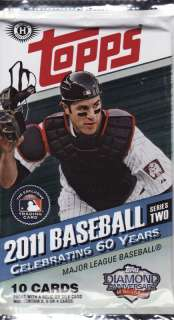 2011 Topps Series 2 Baseball Factory Sealed Hobby Packs