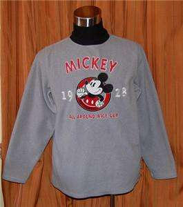 DISNEY MICKEY MOUSE GRAY SWEATSHIRT SWEATER MENS SMALL