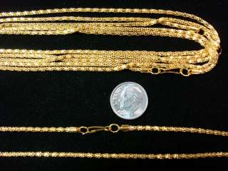 Yellow Gold plated 16.5 snake necklace chains Finished with lanyard