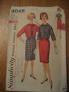 1960s VINTAGE SIMPLICITY SEWING PATTERN DRESS SUIT