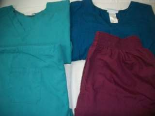 Medical Dental Vet Scrubs Lot 10 Solid Outfits Sets Size XLARGE XL