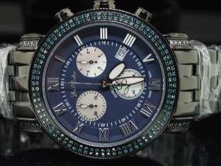 MENS JOE RODEO CLASSIC BLUE DIAMOND 3.5CT JOJO WATCH