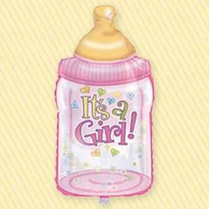 Big Bottle Its a Girl   38 Super Shaped Balloon Toys & Games