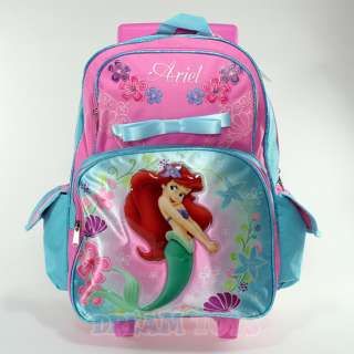 Disney Little Mermaid Ariel Roller 16 Backpack   Rolling Girls Bag