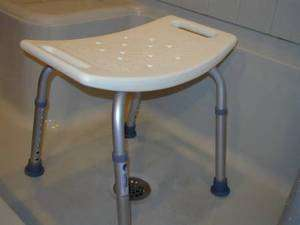 Medical Bath Seat Bench Shower Bathtub Stool Chair Without Backrest