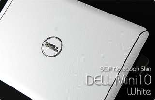 Dell Inspiron Mini 10 Laptop Cover Skin   White Leather