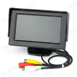 TFT LCD Color Camera Monitor Car Reverse Rear view DVD VCR System