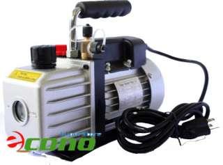 4HP SINGLE STAGE 2CFM ROTARY VANE VACUUM PUMP Oil HVAC AC Gas R134a