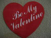 Vtg 80s Large FLOCKED Valentines Day HEART decoration