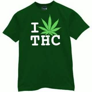 LOVE THC weed marijuana 420 bowl medical shirt pot L