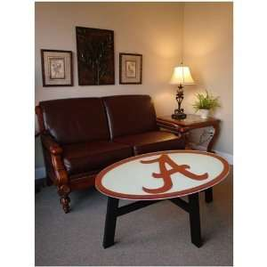 Alabama Crimson Tide Helmet Design Coffee Table