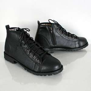 Mens **Fashion Military Boots** Sneakers Shoes SS062 Black & Brown
