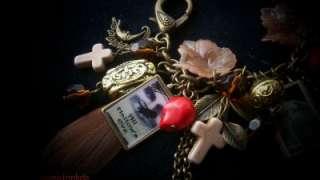 HALLOWEEN Vintage Style Pictures, Handmade Charm Bracelet