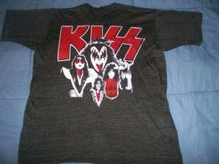 vintage KISS 1977 original concert tour t shirt S rare
