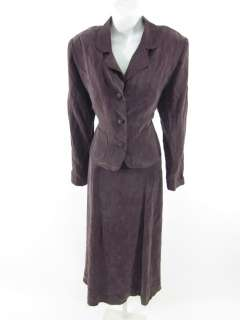 SHARI J FASHIONS Mauve Purple Dress Blazer Suit Set L