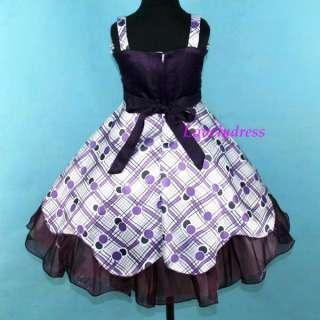 NEW Flower Girl Wedding Pageant Party Dress Children Wears Purples SZ