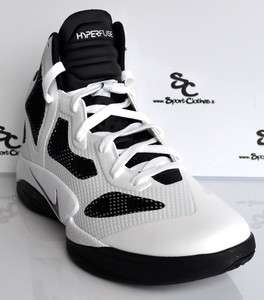 Nike Zoom Hyperfuse 2011 white black mens basketball shoes NEW