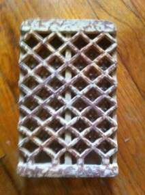 VINTAGE DEARBORN CERAMIC RADIANTS (BRICK/GRATE) FOR GAS HEATER
