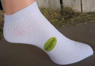 Eco Friendly Bamboo White Shorty Footie Socks Sz 9 11