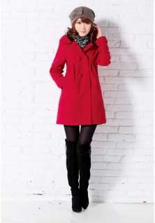 2011 NEW Womens Fashion Slim Fit Woolen Trench Coat/Jacket 3 Color