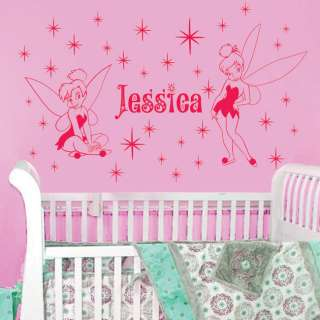 Fairies Name Vinyl Wall Decal Sticker Art TINKERBELL *