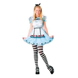 Tween Alice in Wonderland Girls Junior Dress Costume