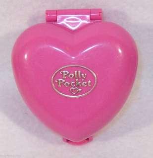 1993 Bluebird Polly Pocket pink heart dog cat pet house