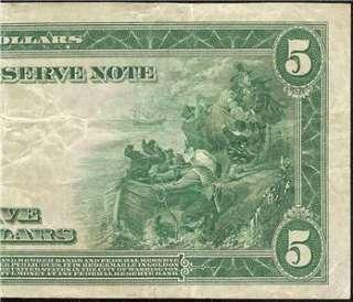 BILL FEDERAL RESERVE BANK NOTE Fr 880 OLD PAPER MONEY VF++