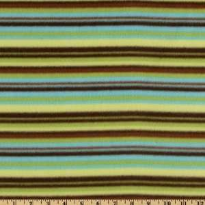 Striped Fleece Green/Brown Fabric By The Yard: Arts, Crafts & Sewing