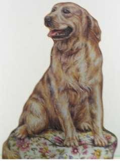 New Golden Retriever Dog Puppy Pet Decor Wood Doorstop