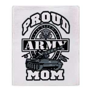 Stadium Throw Blanket Proud Army Mom Tank