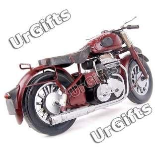 Vintage Hand Made Metal Art Bar Decor Model 1/6 Motorcycle N613