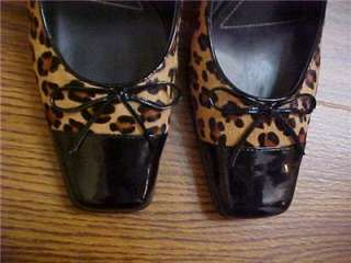 FRANCO SARTO Womens PUMPS Shoes ANIMAL PRINT SIZE 9 M BRAZIL http