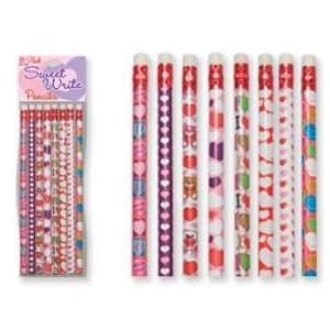 Sweet Write Valentines Day Pencils Case Pack 72