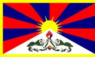 x5 TIBET FLAG OUTDOOR BANNER TIBETAN DALAI LAMA 3X5