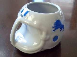 Vintage 1986 Detroit Lions NFL Collectable Ceramic Helmet Coffee Mug