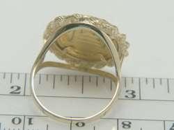 1991 1/20 oz Chinese Panda .999 Coin 14K Yellow Gold Diamond Ring 6.0g