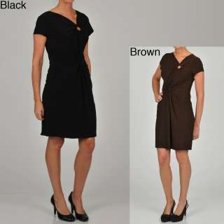 Tiana B Womens Knot Front Jersey Dress